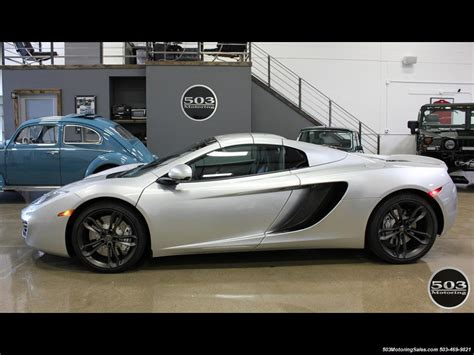 Mp4 12c 0 60 by 2014 Mclaren Mp4 12c Spider Silver Black W 333k Msrp