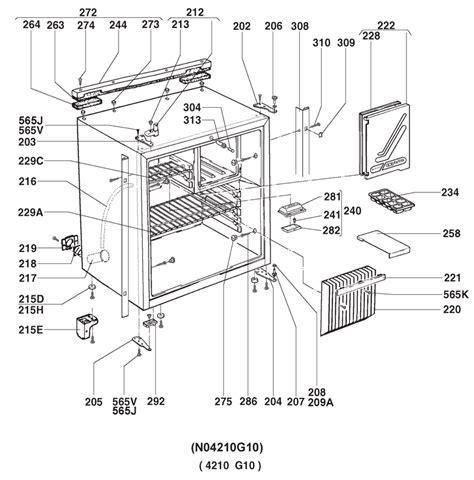 kitchen cabinet parts diagram caravansplus spare parts diagram rm4211 fridge cabinet