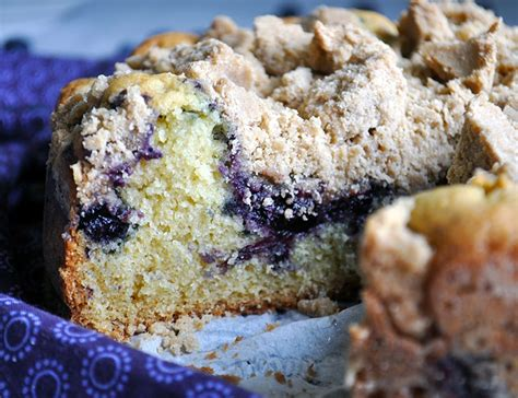 Spread the coffee cake batter into the prepared cake pan. Blueberry Crumb Cake - Of Batter and Dough