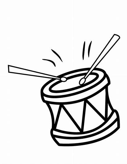 Coloring Pages Drums Drum Colouring Clipart Printable