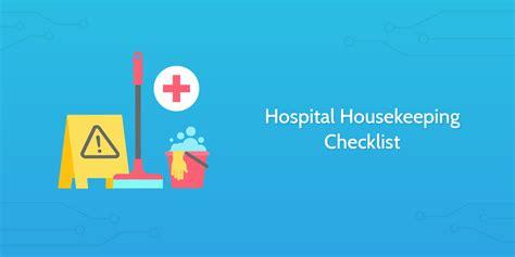 hospital housekeeping checklist process street