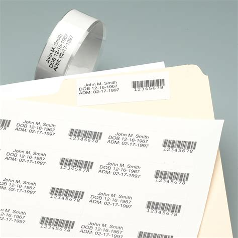 laser printable wristband sheets patient id solutions