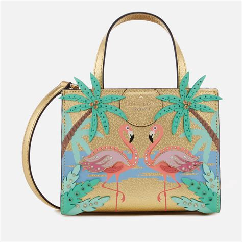 kate spade  york womens flamingo scene small sam cross