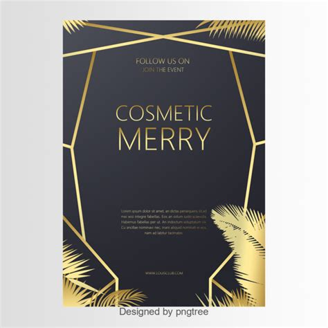 Black And Gold Cosmetic Flyer Template for Free Download