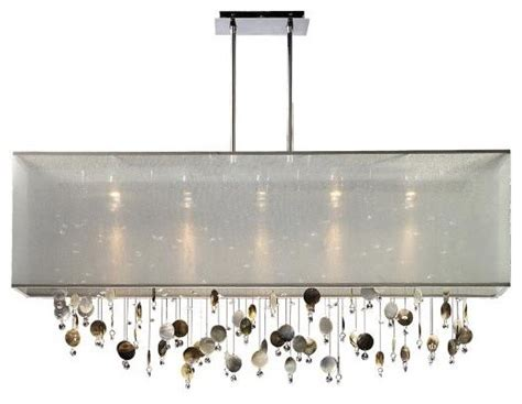 finishing touches 44 quot wide rectangular pendant chandelier