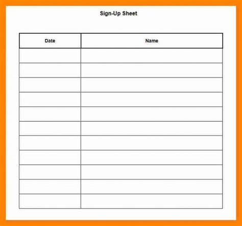 Potluck Signup Sheet Template Word Latest Photograph Sign