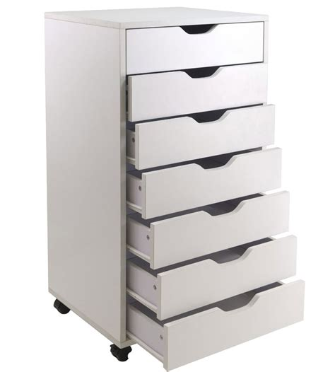 Drawers And Storage by 7 Drawer Storage Cart In Storage Drawers