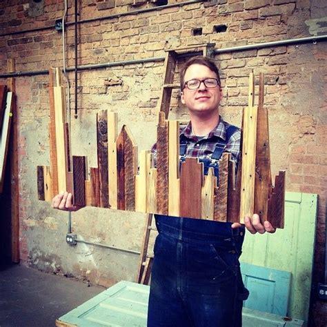 city skyline  reclaimed wood atdouglas fir reclaimed