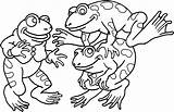 Coloring Frog Pages Frogs Printable Tree sketch template