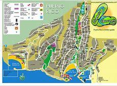 Puerto Rico Map Puerto Rico Gran Canaria Online Guide
