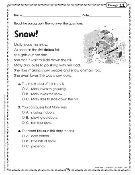 printable reading worksheets for grade worksheets