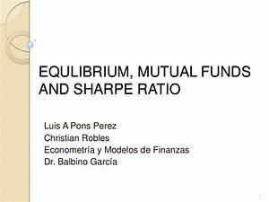 Equlibrium, mut... Sharpe Ratio