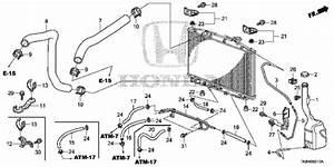 Oem 2012 Honda Odyssey 5-door Radiator Hose