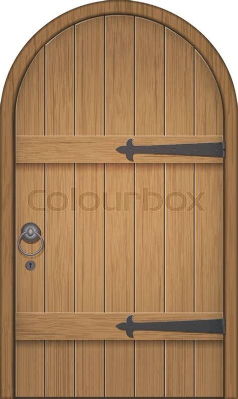 wooden arch door closed door   wooden planks