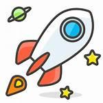 Clipart Cohete Rocket Rakete Emoji Icon Icono