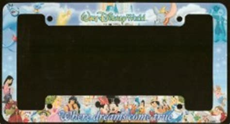 wdw store disney license plate frame  dreams