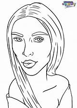 Kim Kardashian Coloring Celebrities Categories Pages January sketch template