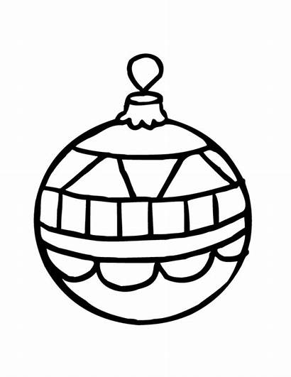 Coloring Christmas Printable Ornaments Pages Ornament Pretty