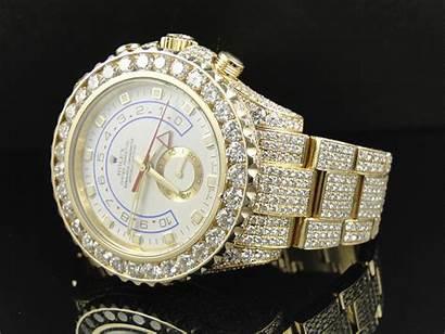 Rolex Diamond Gold Mens Amazing Yellow 18k