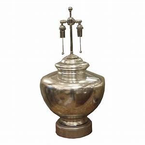 Single ginger jar form mercury glass table lamp single for Glass jar floor lamp