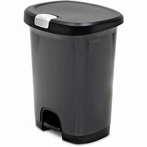 Hefty Step On 13 Gallon Trash Can Black