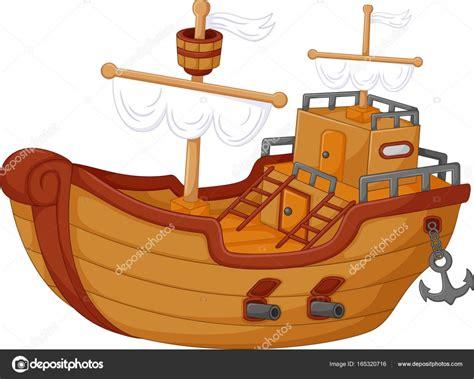 Imagenes De Barcos Vector by Dibujos Animados De Barcos Antiguos Vector De Stock