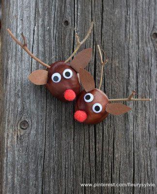 bricolage avec des marrons rennes avec des marrons www toutpetitrien ch bricos