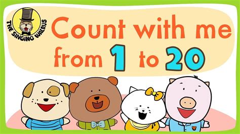 counting songs for preschool the singing walrus presents quot number song 1 20 for children 415