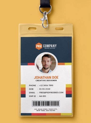 employee id card design templates mockups