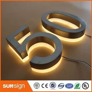 custom led illuminated house numbers and letters sign in With custom house numbers and letters