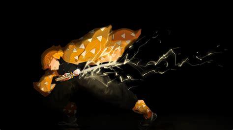 Descargar fondos de pantalla zenitsu agatsuma, brillante iluminaciones, guerrero, cazador de demonios, samurai, kimetsu no yaiba. Demon Slayer Zenitsu Agatsuma With Lightning Sword With Black Background HD Anime Wallpapers ...