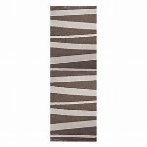 tapis de couloir are sofie sjostrom design beige et brun With tapis de couloir design
