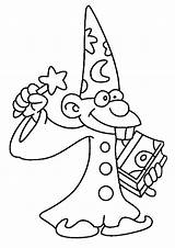 Coloring Pages Wizard sketch template