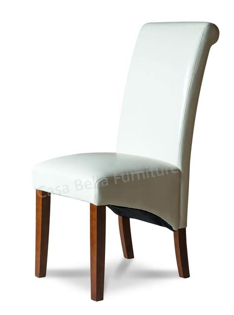verona ivory leather dining chair casa furniture uk