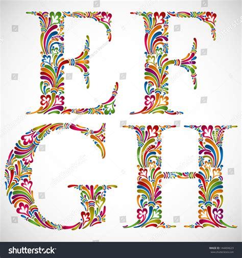 floral font letter h stock photos floral font letter h colorful floral font ornate alphabet letters stock vector 60525