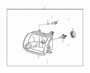 Toyota Sequoia Headlight  Right   Electrical  Lighting  Lamps