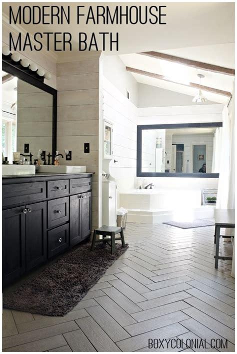 Modern Rustic Bathroom Tile by Kristi S Modern Farmhouse Rustic Glam Master Bathroom