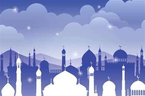arabic vector background  mosque muslim faith ramadan