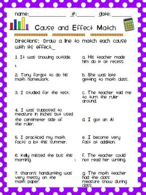 12 easy cause and effect activities and worksheets cause effect activities reading
