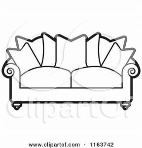Royalty-Free (RF) Black And White Sofa Clipart ...