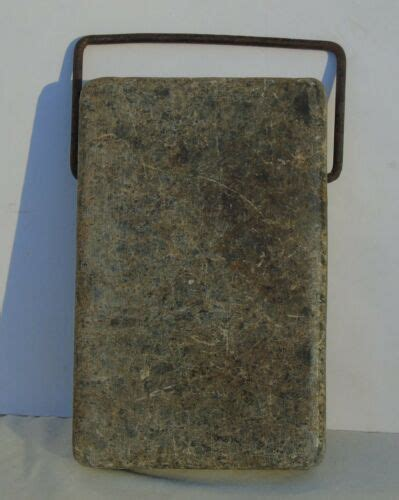 Soapstone Bed Warmer by Antique Soapstone Foot Warmer Antiques Us
