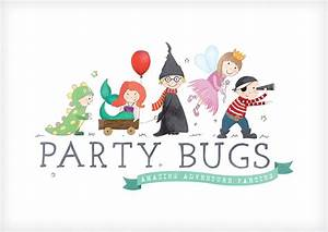 Party Bugs logo design - Tall Boots Creative