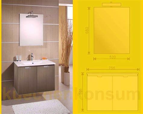Badezimmer Unterschrank Set by Badm 246 Bel Unterschrank Waschbecken Spiegel Leuchte