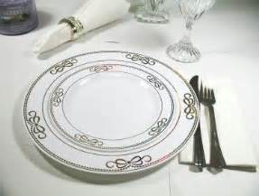 plastic plates for wedding plastic plates ribbons silver wedding reception supplies and wedding place settings