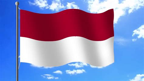 bendera merah putih animasi hd