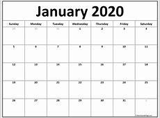January 2020 calendar 51+ calendar templates of 2020
