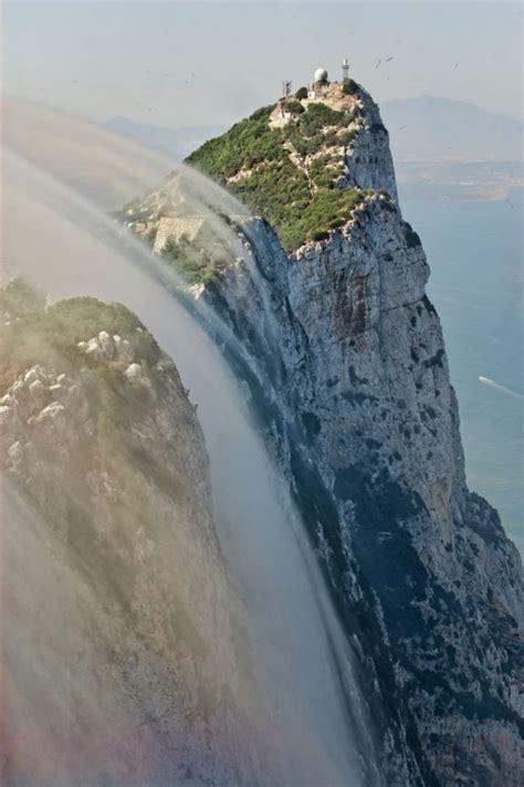 photo clouds flowing   rock  gibraltar neatorama