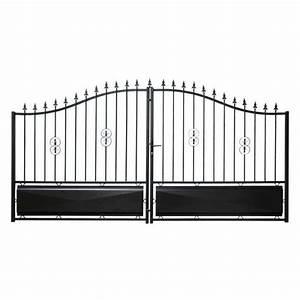 Portail 4m Pas Cher : portail coulissant fer forg pas cher ~ Dailycaller-alerts.com Idées de Décoration