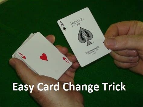 simple card tricks easy card change magic trick explained youtube