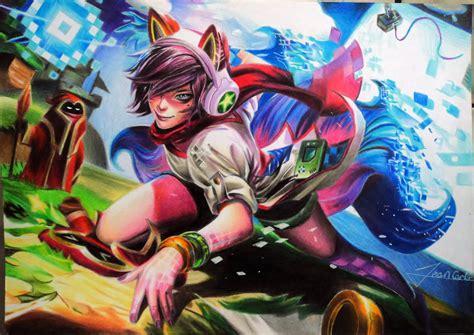 Arcade Ahri Animated Wallpaper - arcade ahri league of legends by jeancarlo183 on deviantart